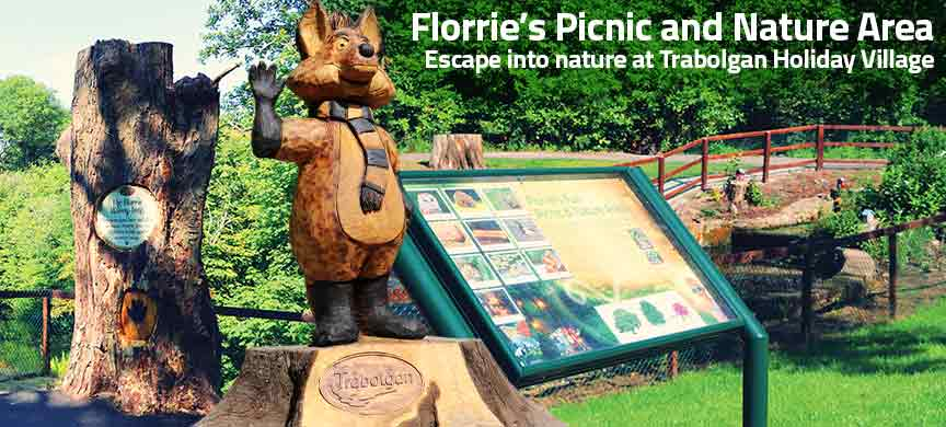 Florrie's picnic and nature area at Trabolgan Holiday Village